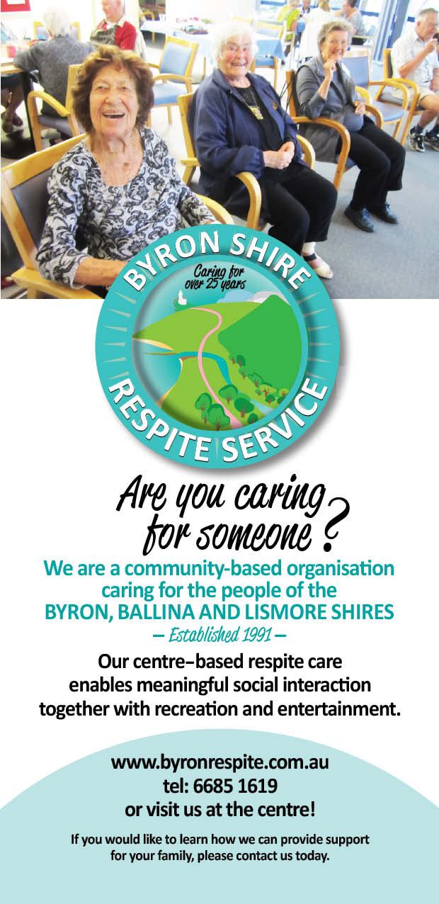 Byron Shire Respite Service DL Centrebased flyer
