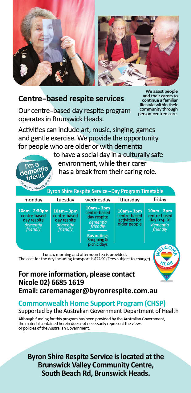 Byron Shire Respite Service DL Centrebased flyer2
